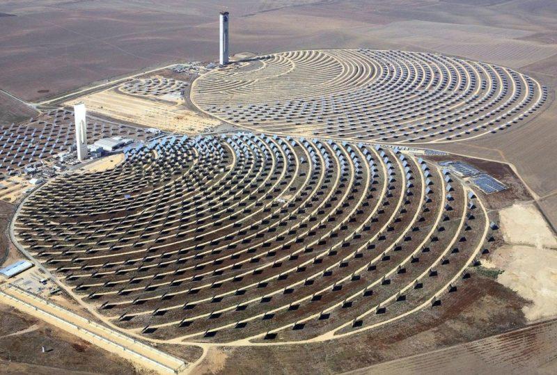 Il solare termodinamico a concentrazione eco rendita - Centrale solare a specchi ...